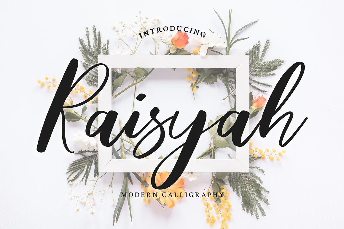 Raisyah Calligraphy Script Font-1