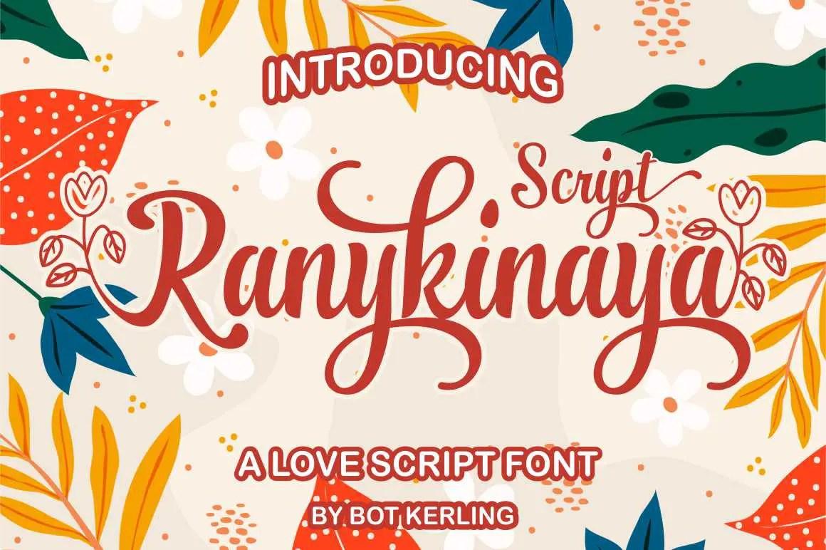 Ranykinaya Calligraphy Script Font-1