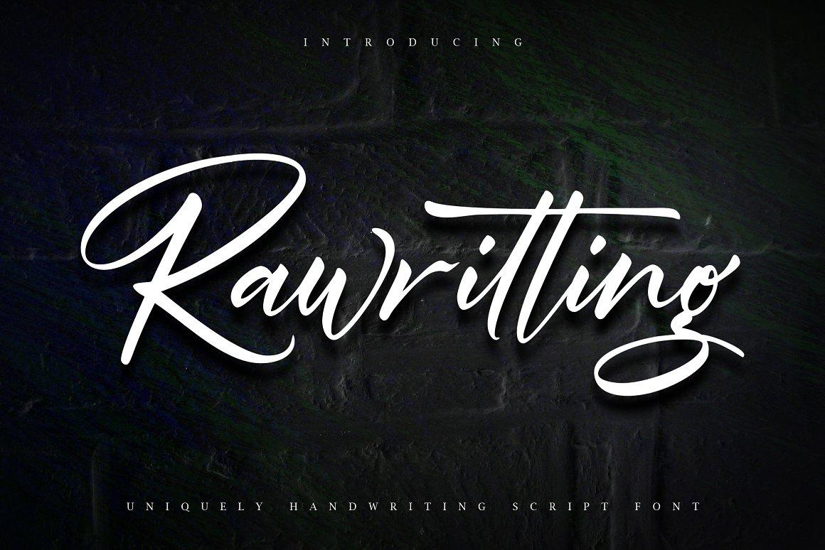 Rawriting Uniquely Handwriting Font-1