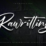 Rawriting Uniquely Handwriting Font