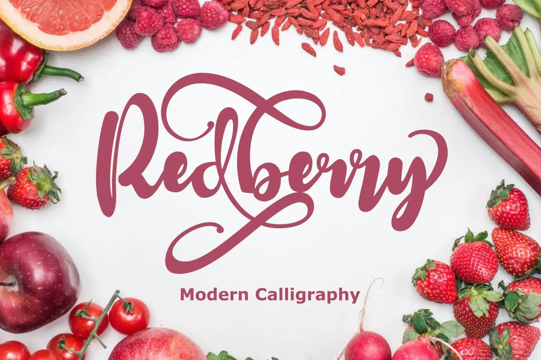 Redberry Modern Calligraphy Script Font-1