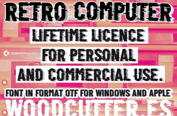 Retro Computer Fancy Font
