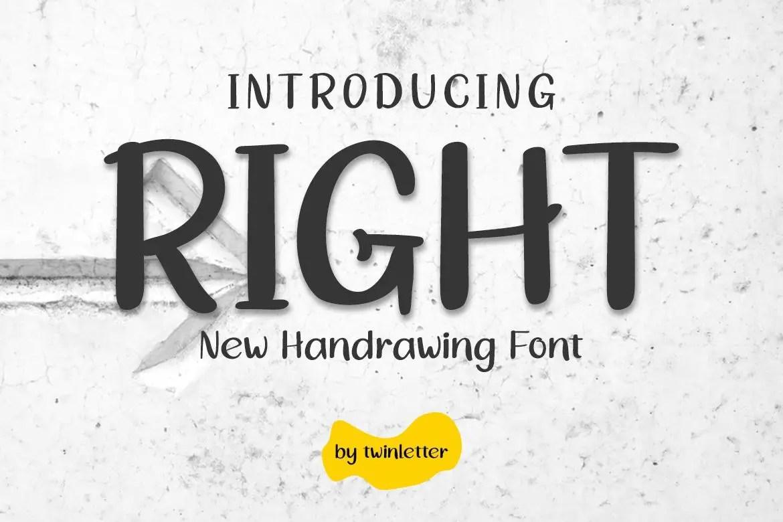 Right Handwritten Font-1