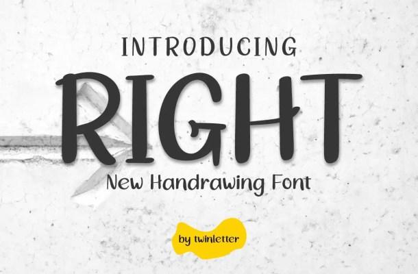 Right Handwritten Font
