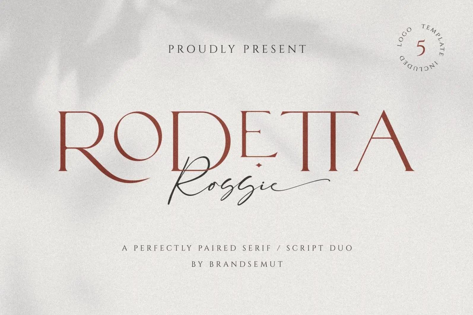 Rodetta Rossie Serif Font -1