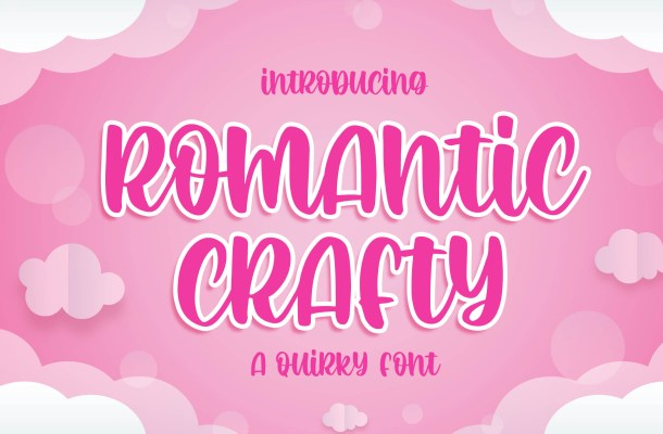 Romantic Crafty Quirky Display Font