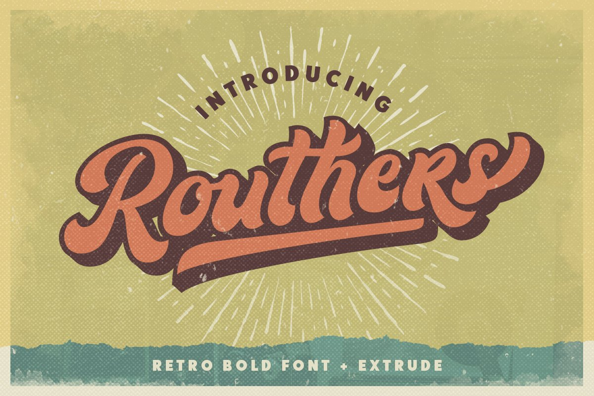 Routhers Retro Bold Script Font-1