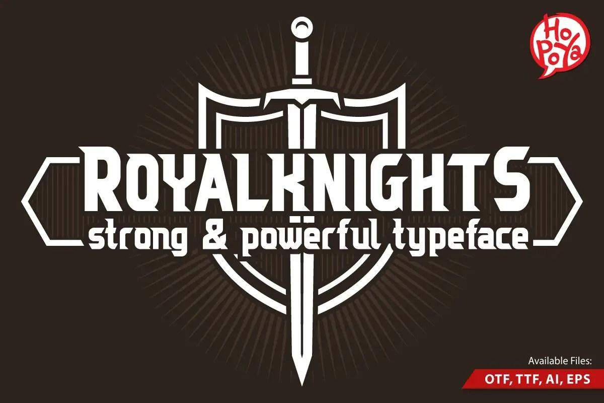 Royal Knights Display Font-1