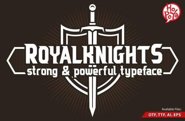 Royal Knights Display Font