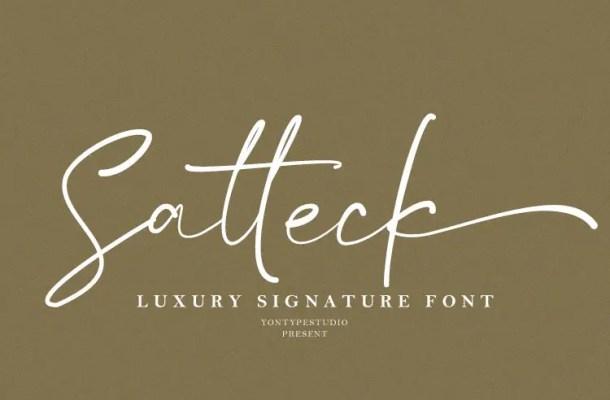 Satteck Luxury Signature Calligraphy Script Font