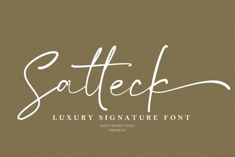Satteck Luxury Signature Calligraphy Script Font-1