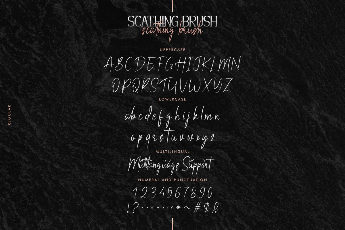 Scathing Brush Font Duo-4