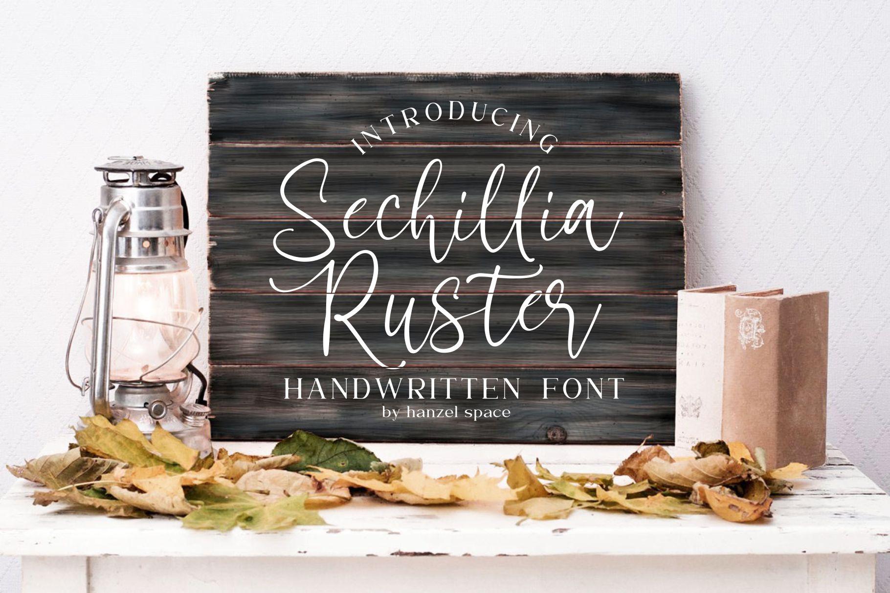 Sechillia Ruster Handwritten Script Font-2