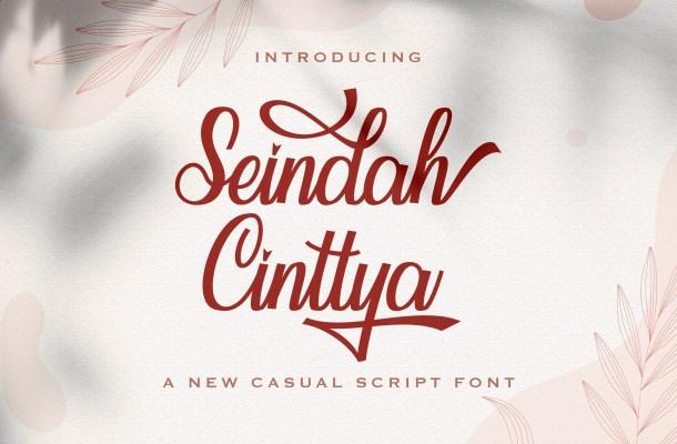 Seindah Cinttya Handwritten Script Font