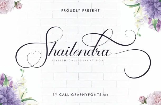 Shailendra Calligraphy Script Font
