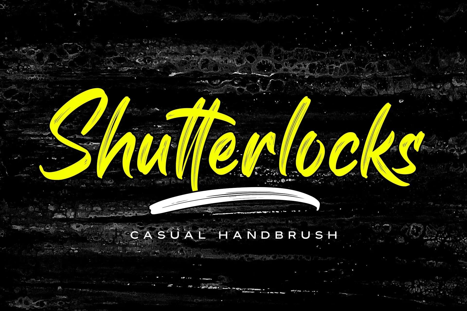 Shutterlocks Casual Handbrush Font-1