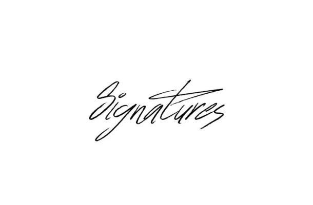 Signatures Handwritten Script Font