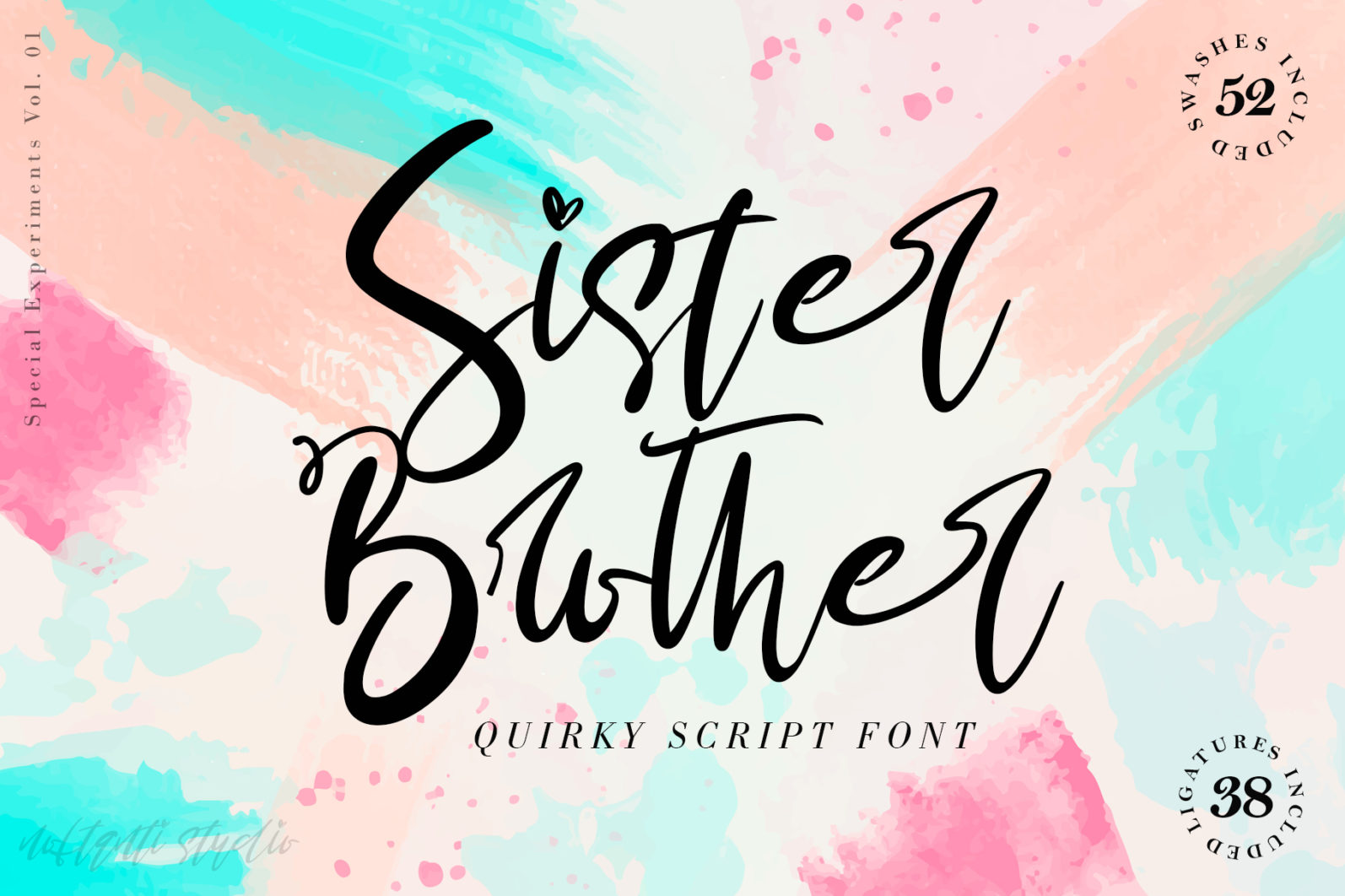 Sister Brother Calligraphy Script Font-1