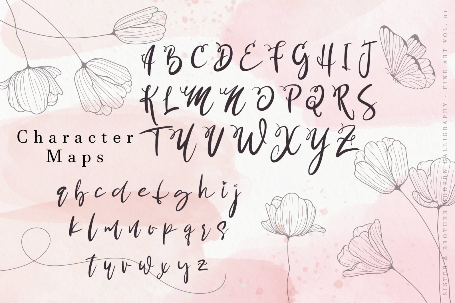 Sister Brother Calligraphy Script Font-3