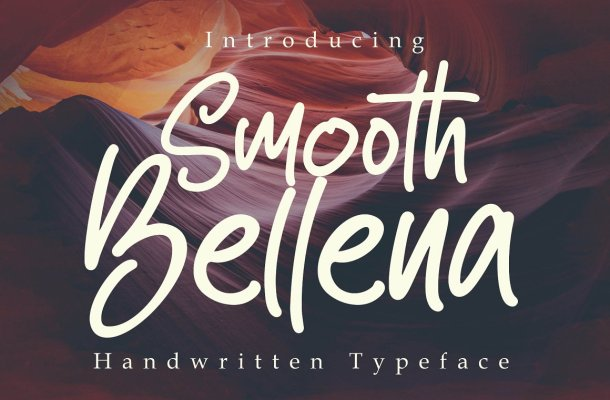 Smooth Bellena Script Handwritten Typeface