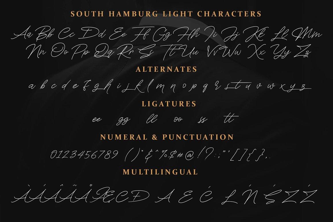 South Hamburg Handwritten Script Font-3