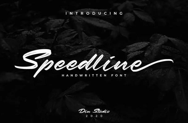Speedline Classy Brush Script Font