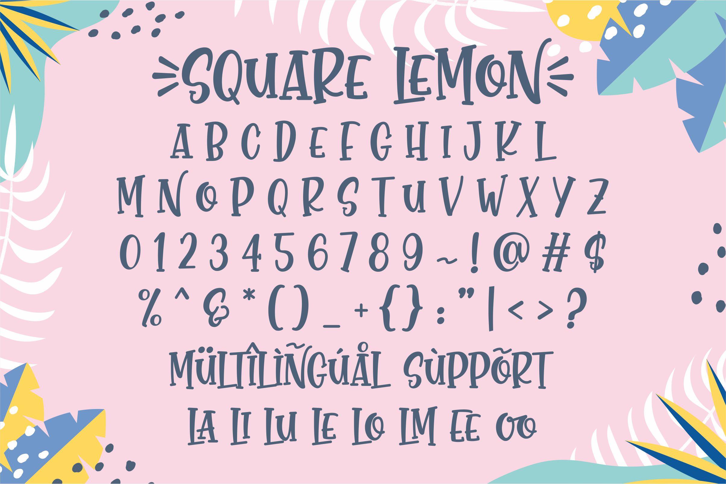 Square Lemon Fancy Font-3