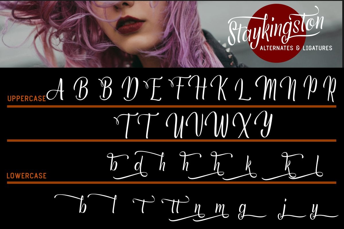 Staykingston Script Calligraphy Font-3