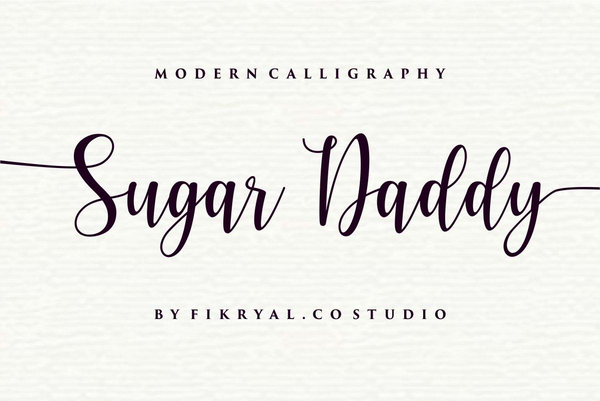 Sugar Daddy Modern Calligraphy Script Font-1