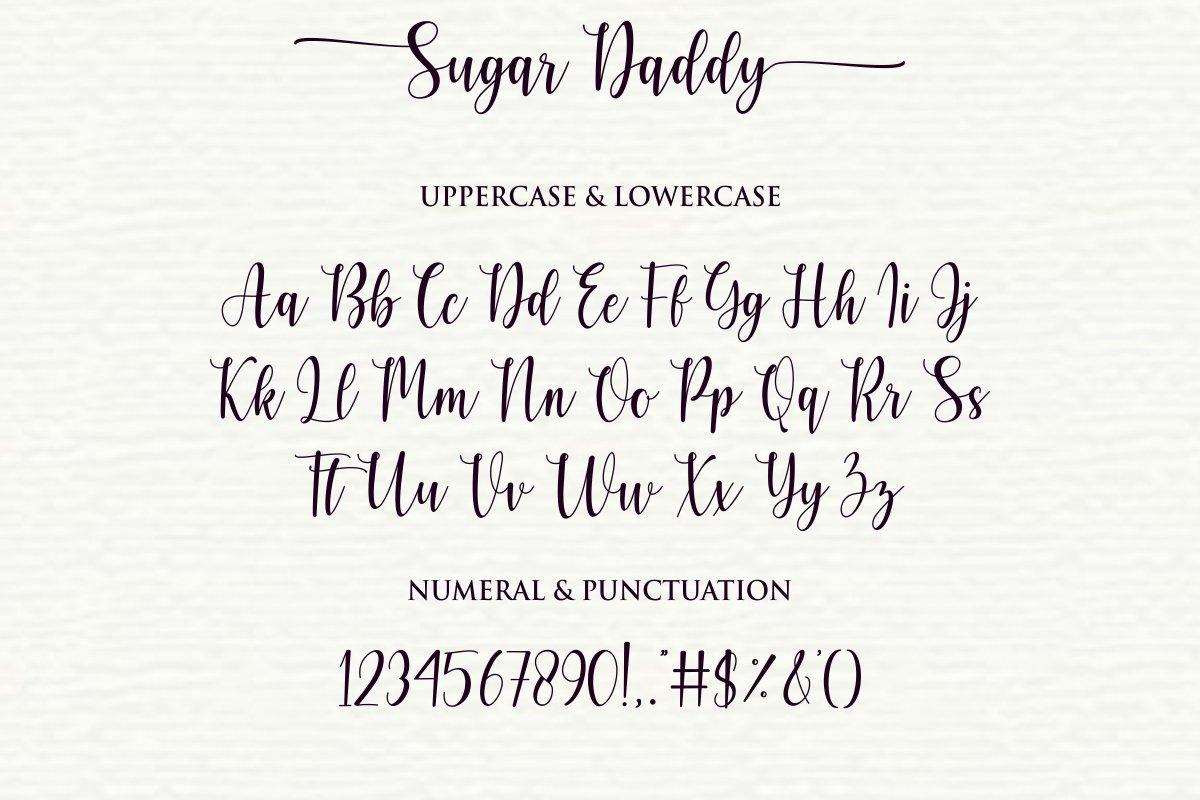 Sugar Daddy Modern Calligraphy Script Font-3