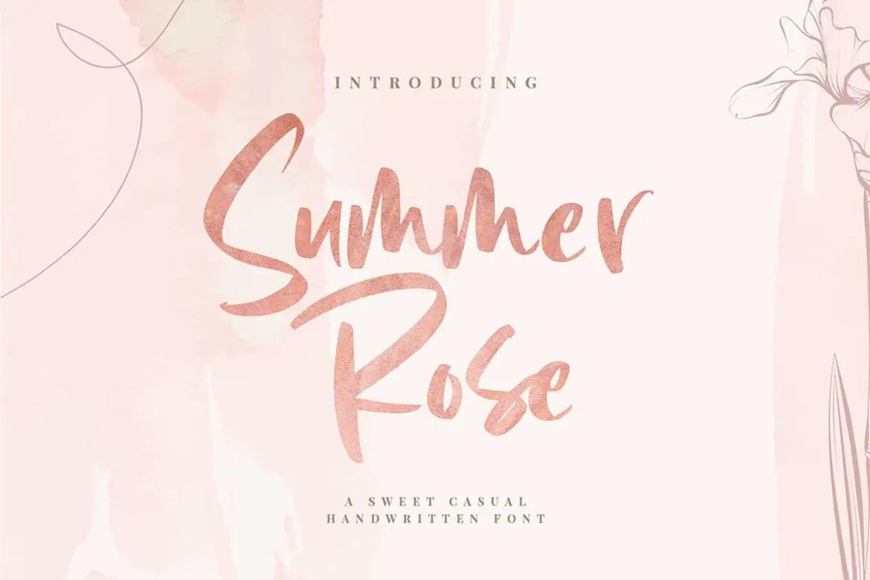 Summer Rose Handwritten Font-1