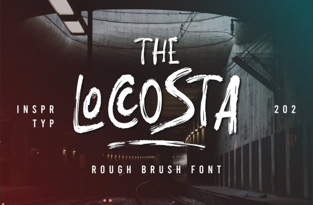 The Loccosta Brush Font