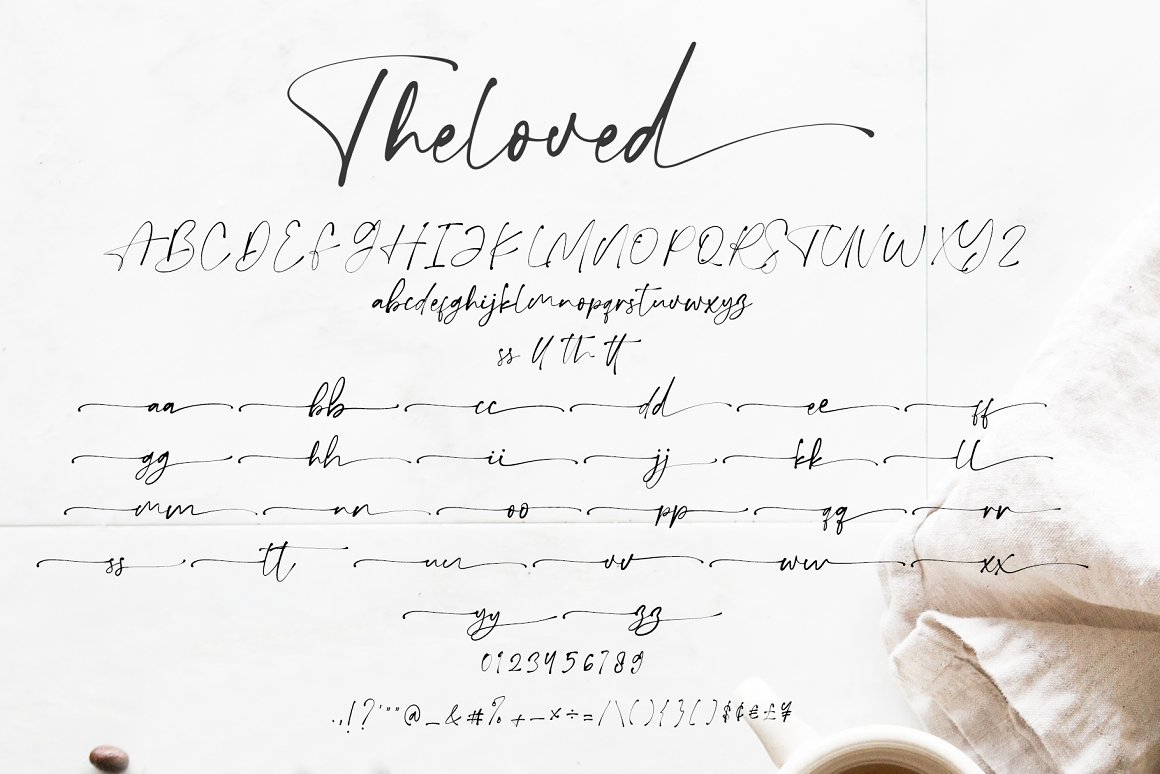 Theloved Handwritten Script Font-3