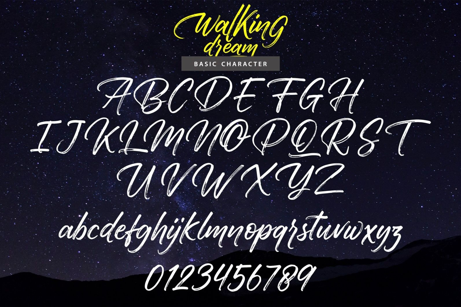 Walking Dream A Handcrafted Drybrush Lettering Font-3
