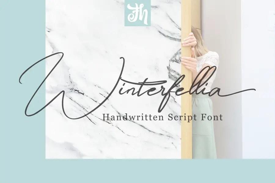 Winterfellia Handwritten Script Font-1