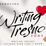 Writing Tresno Script Font