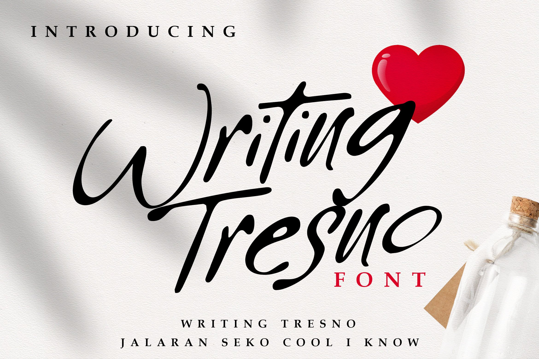 Writing Tresno Script Font-1