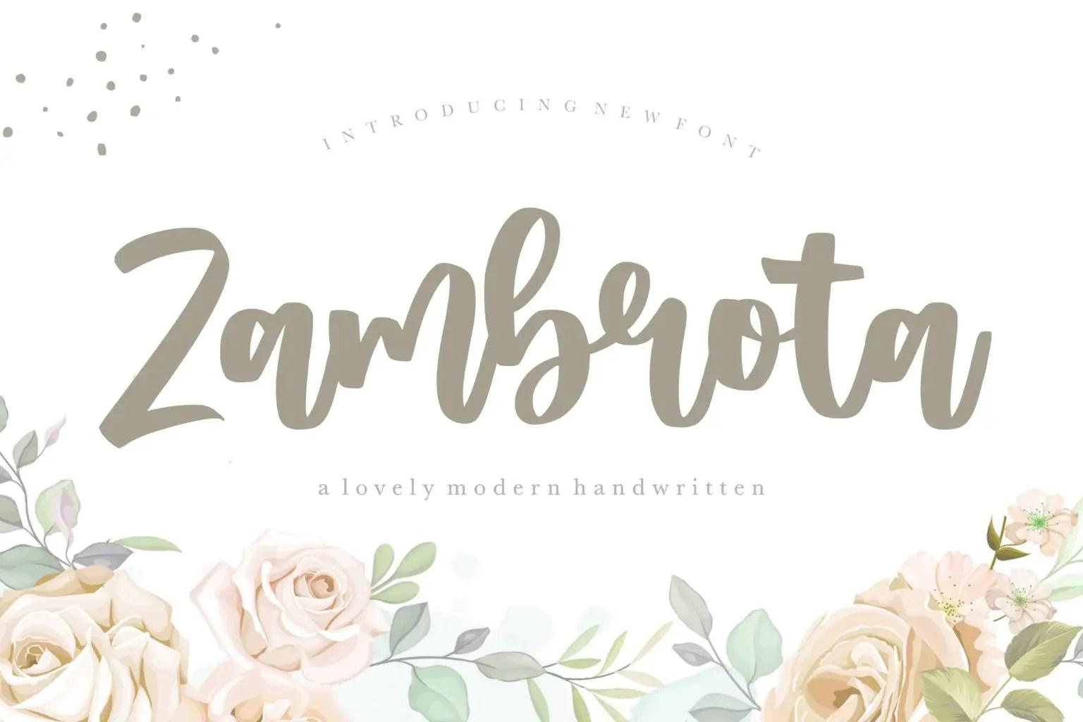 Zambrota Lovely Modern Handwritten Font-1