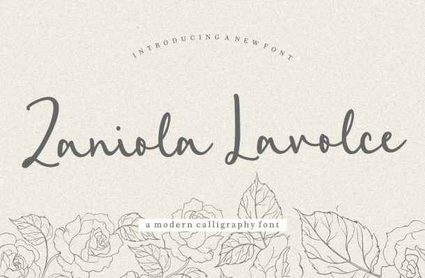 Zaniola Lavolce Modern Callihgraphy Font