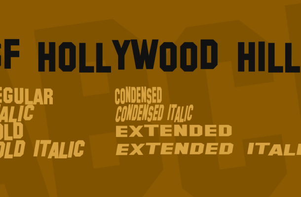 SF Hollywood Hills Font Family