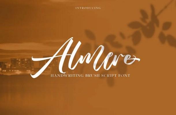 Almere Calligraphy Script Font