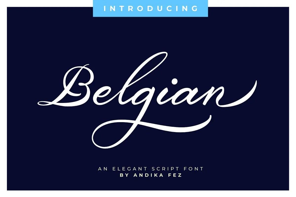Belgian Signature Script Calligraphy Font-1