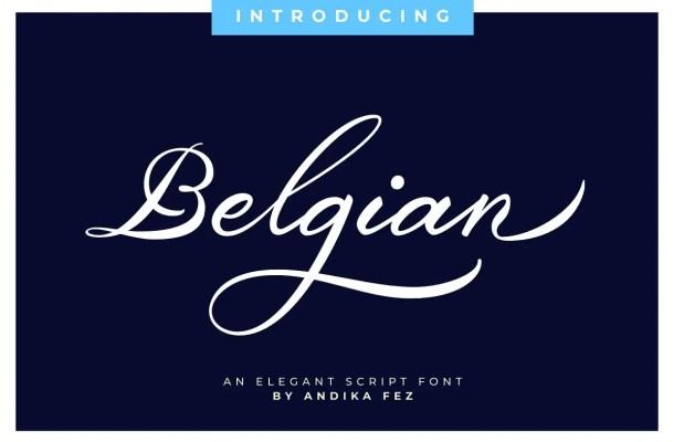 Belgian Signature Script Calligraphy Font