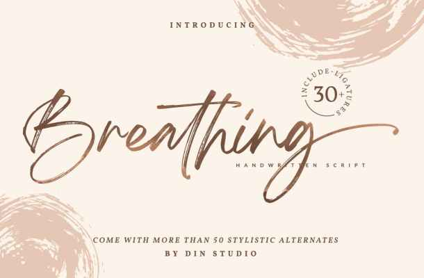 Breathing Beautiful Brush Font