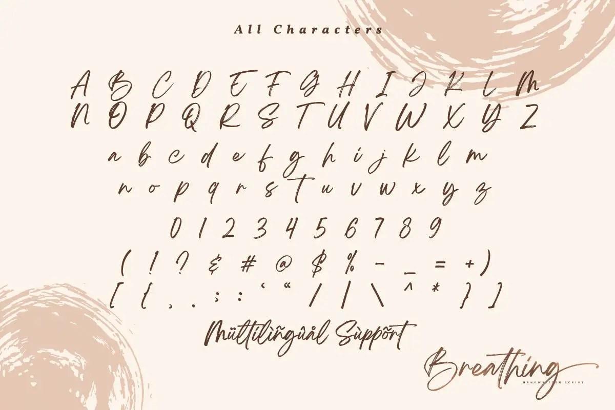 Breathing Beautiful Brush Font-3
