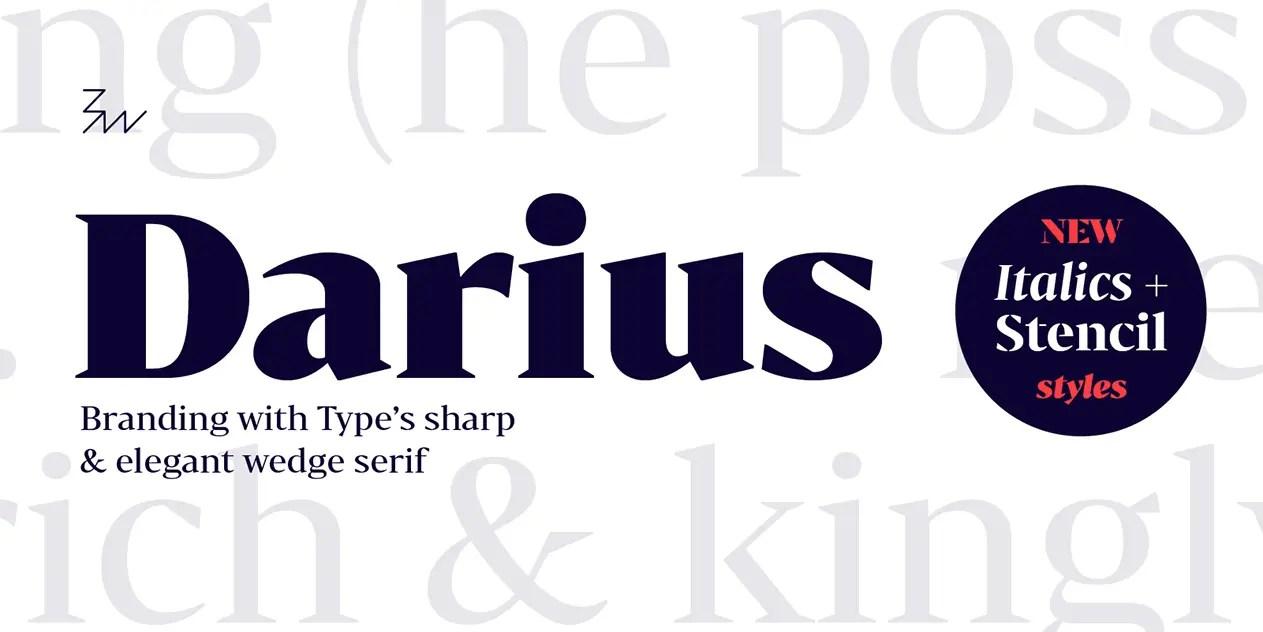 Bw Darius Serif Font Family-1