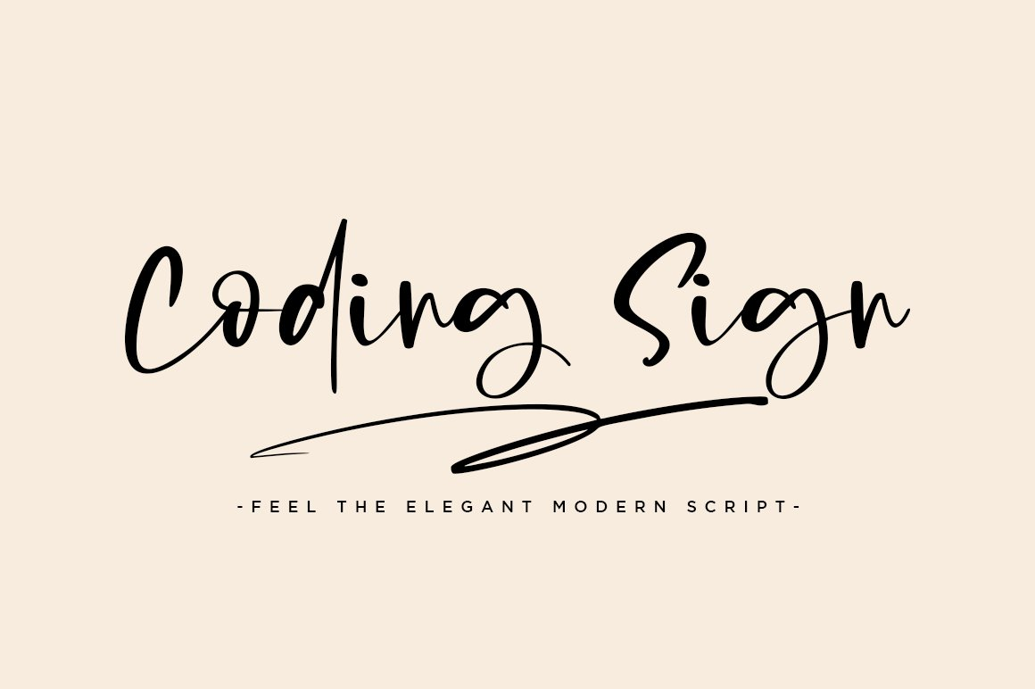Coding Sign Modern Bounce Script Font-1