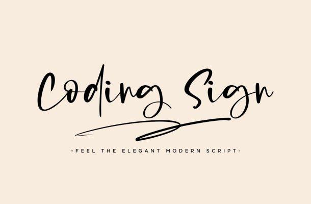 Coding Sign Modern Bounce Script Font