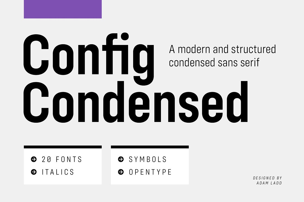 Config Condensed Sans Serif Font Family-1