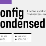 Config Condensed Sans Serif Font Family